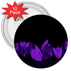 Tulips 3  Buttons (10 Pack)  by ValentinaDesign