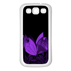 Tulips Samsung Galaxy S3 Back Case (white) by ValentinaDesign