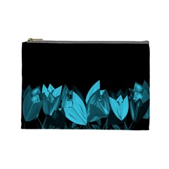 Tulips Cosmetic Bag (large)  by ValentinaDesign