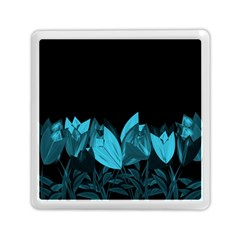 Tulips Memory Card Reader (square)  by ValentinaDesign