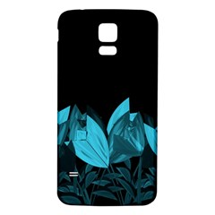 Tulips Samsung Galaxy S5 Back Case (white) by ValentinaDesign