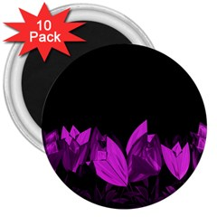 Tulips 3  Magnets (10 Pack)  by ValentinaDesign