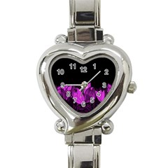 Tulips Heart Italian Charm Watch by ValentinaDesign