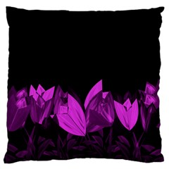 Tulips Large Flano Cushion Case (two Sides) by ValentinaDesign
