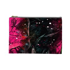 Abstract Design Cosmetic Bag (large)  by ValentinaDesign