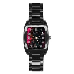 Abstract Design Stainless Steel Barrel Watch by ValentinaDesign