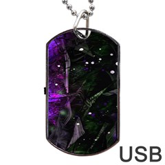 Abstract Design Dog Tag Usb Flash (one Side) by ValentinaDesign