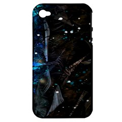 Abstract Design Apple Iphone 4/4s Hardshell Case (pc+silicone) by ValentinaDesign