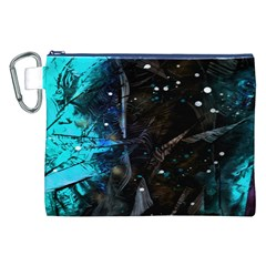 Abstract Design Canvas Cosmetic Bag (xxl) by ValentinaDesign