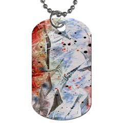 Abstract Design Dog Tag (two Sides) by ValentinaDesign
