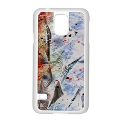 Abstract Design Samsung Galaxy S5 Case (white) by ValentinaDesign