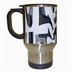 Abstract Art Travel Mugs (white) by ValentinaDesign