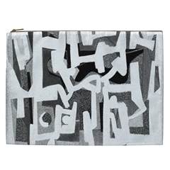 Abstract Art Cosmetic Bag (xxl)  by ValentinaDesign