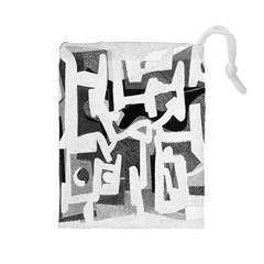 Abstract Art Drawstring Pouches (large)  by ValentinaDesign