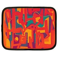 Abstract Art Netbook Case (xxl)  by ValentinaDesign