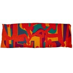 Abstract Art Body Pillow Case (dakimakura) by ValentinaDesign