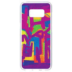 Abstract Art Samsung Galaxy S8 White Seamless Case by ValentinaDesign