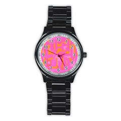 Abstract Art Stainless Steel Round Watch by ValentinaDesign