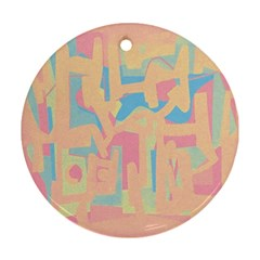 Abstract Art Ornament (round) by ValentinaDesign