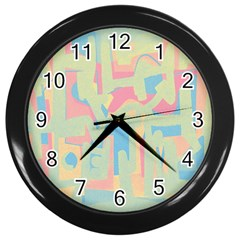Abstract Art Wall Clocks (black) by ValentinaDesign