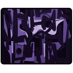 Abstract Art Fleece Blanket (medium)  by ValentinaDesign