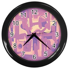 Abstract Art Wall Clocks (black) by ValentinaDesign