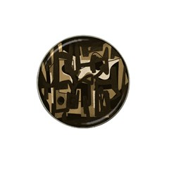 Abstract Art Hat Clip Ball Marker (4 Pack) by ValentinaDesign