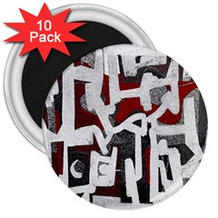 Abstract Art 3  Magnets (10 Pack)  by ValentinaDesign