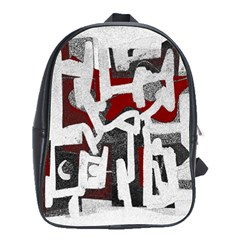 Abstract Art School Bags(large)  by ValentinaDesign