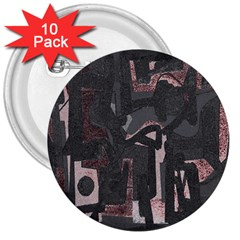 Abstract Art 3  Buttons (10 Pack)  by ValentinaDesign