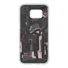 Abstract Art Samsung Galaxy S7 Edge White Seamless Case by ValentinaDesign