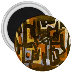 Abstract art 3  Magnets by ValentinaDesign