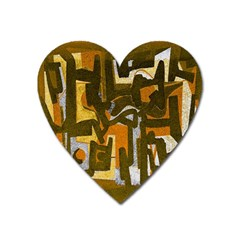 Abstract Art Heart Magnet by ValentinaDesign