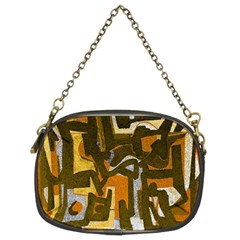 Abstract Art Chain Purses (two Sides)  by ValentinaDesign