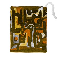 Abstract Art Drawstring Pouches (xxl) by ValentinaDesign