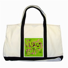 Abstract art Two Tone Tote Bag by ValentinaDesign
