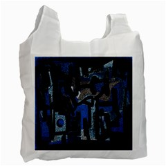 Abstract Art Recycle Bag (one Side) by ValentinaDesign