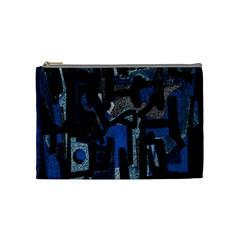Abstract Art Cosmetic Bag (medium)  by ValentinaDesign