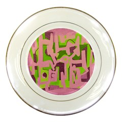 Abstract Art Porcelain Plates by ValentinaDesign