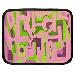 Abstract Art Netbook Case (xxl)  by ValentinaDesign
