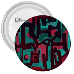 Abstract Art 3  Buttons by ValentinaDesign