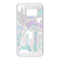 Abstract art Samsung Galaxy S7 White Seamless Case by ValentinaDesign