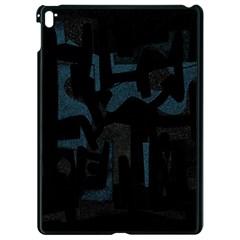 Abstract art Apple iPad Pro 9.7   Black Seamless Case by ValentinaDesign