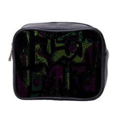 Abstract Art Mini Toiletries Bag 2 Side by ValentinaDesign
