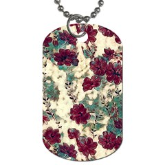 Floral Dreams 10 Dog Tag (two Sides) by MoreColorsinLife