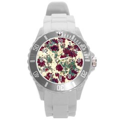Floral Dreams 10 Round Plastic Sport Watch (l) by MoreColorsinLife