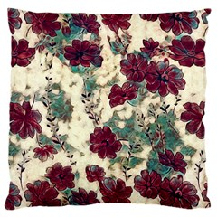 Floral Dreams 10 Large Cushion Case (one Side) by MoreColorsinLife