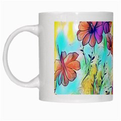 Floral Dreams 12 White Mugs by MoreColorsinLife
