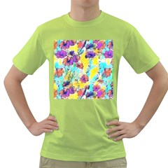 Floral Dreams 12 Green T Shirt by MoreColorsinLife