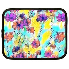 Floral Dreams 12 Netbook Case (large) by MoreColorsinLife